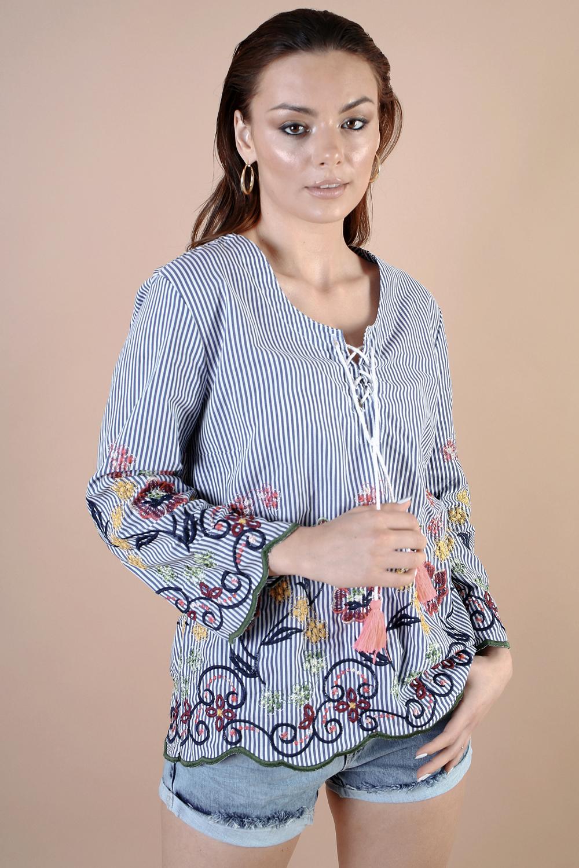 חולצת גלביה רקומה