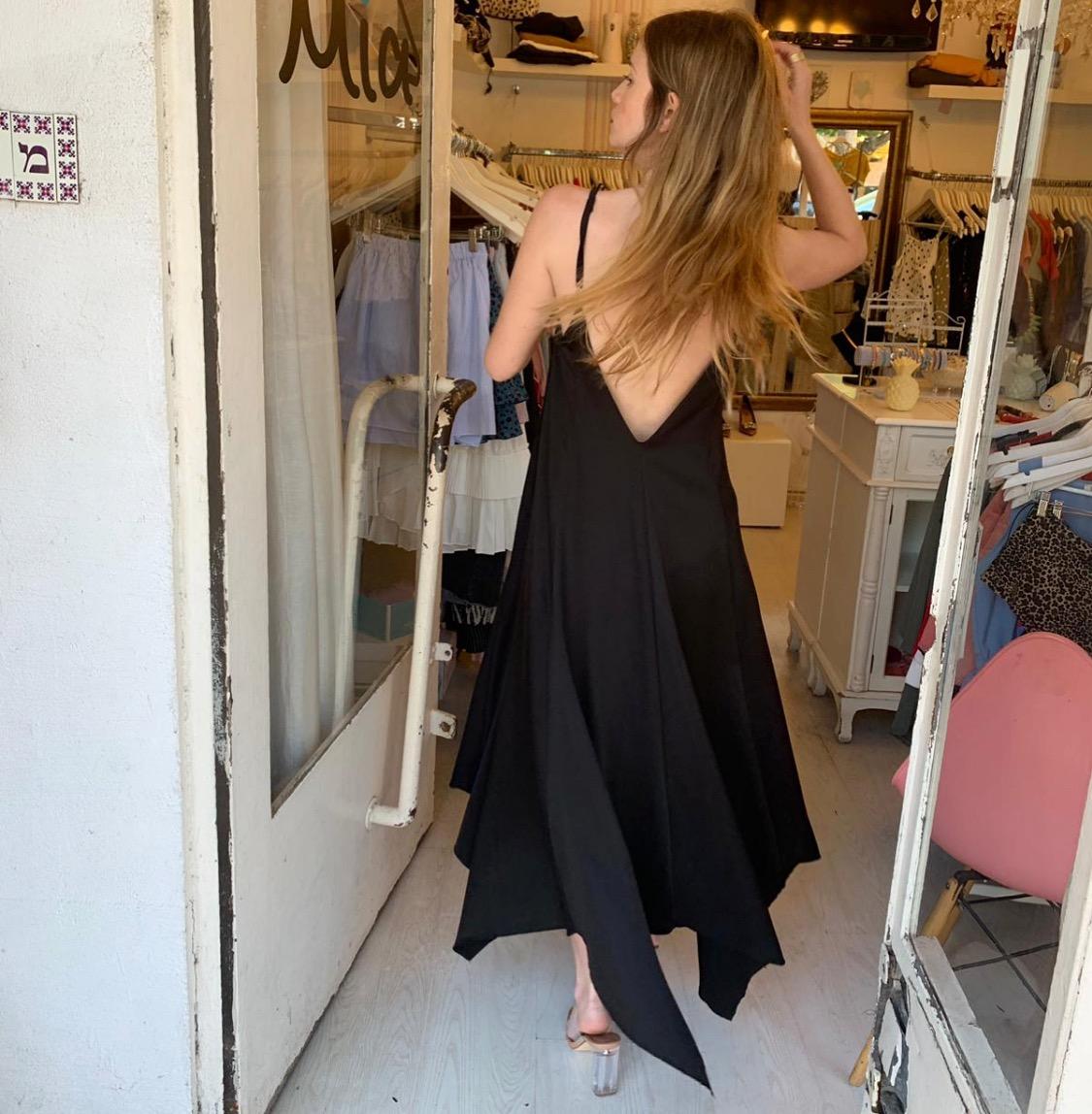 שמלת ליאל - שחורה