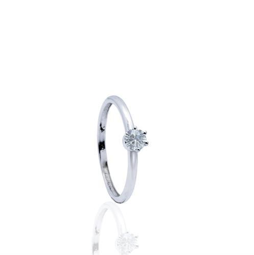 טבעת אירוסין מעוצבת 0.25 קראט בזהב 14 קאראט