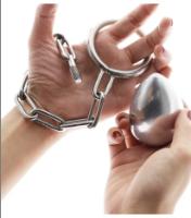 """כדור נירוסטה פלאג לישבן כולל חיבור לביצים טבעת 4.5 ס""""מ"""