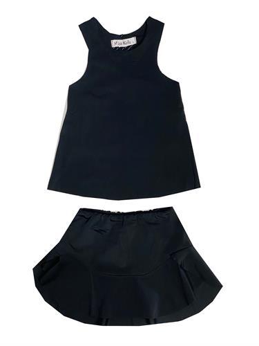 חליפת חצאית שחורה