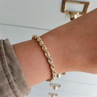 צמיד זהב חבל לאישה 3.8 ממ 17 סמ אורך
