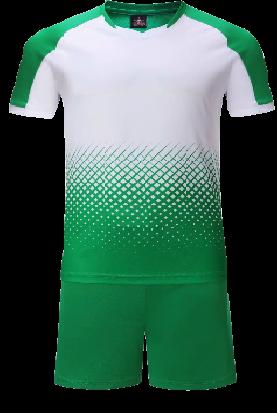 חליפת כדורגל ירוק לבן