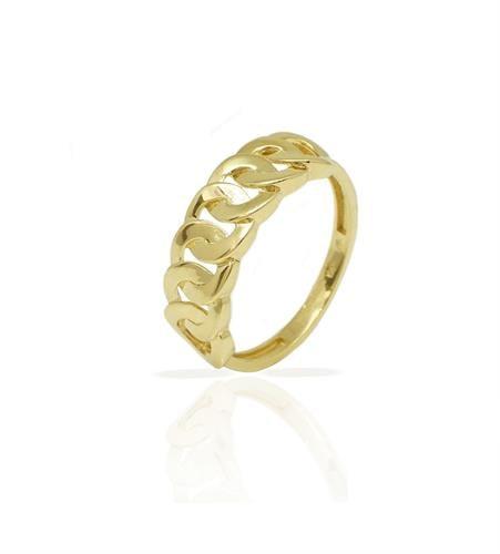 טבעת זהב חוליות לאישה