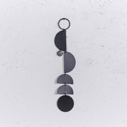 קישוט מתכת לקיר - ארוך (שחור)