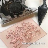 Unicorn eyelashes for chocolate