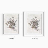 ציור של פרחים וציפורים ליז קפילוטו