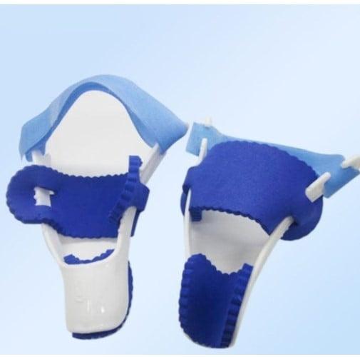 צמד מיישרים אורטופדים למניעת עצם בולטת בכף הרגל