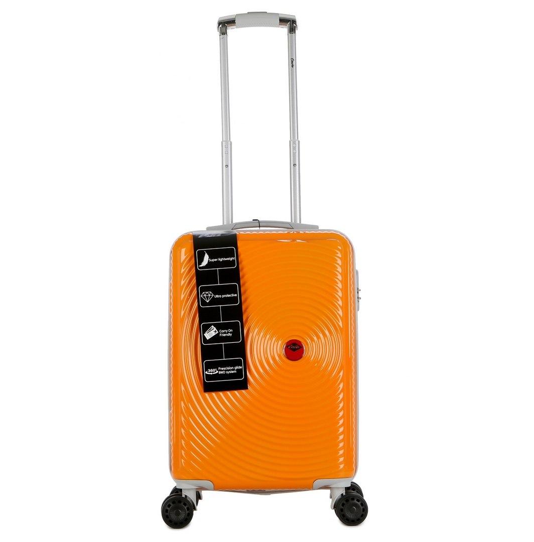 """מזוודה יוקרתית עליה למטוס 20"""" של המותג האוסטרלי Courier - צבע כתום"""