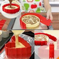 תבנית גמישה לעיצוב עוגה במגוון צורות