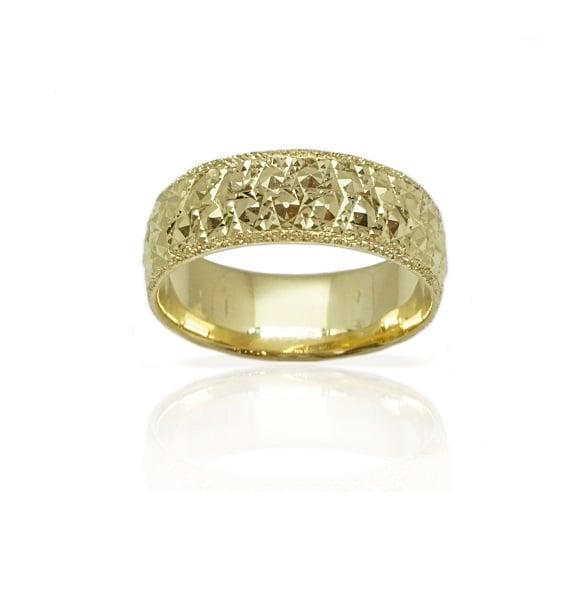 טבעת נישואין רחבה בזהב 14 קרט- דגם M204