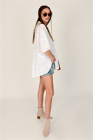חולצת נטלי זית/לבן