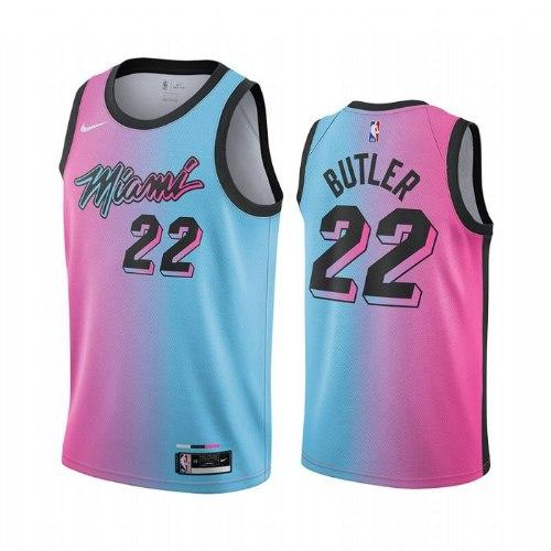 גופיית NBA מיאמי היט ורוד תכלת 20/21 - #22 Jimmy Butler