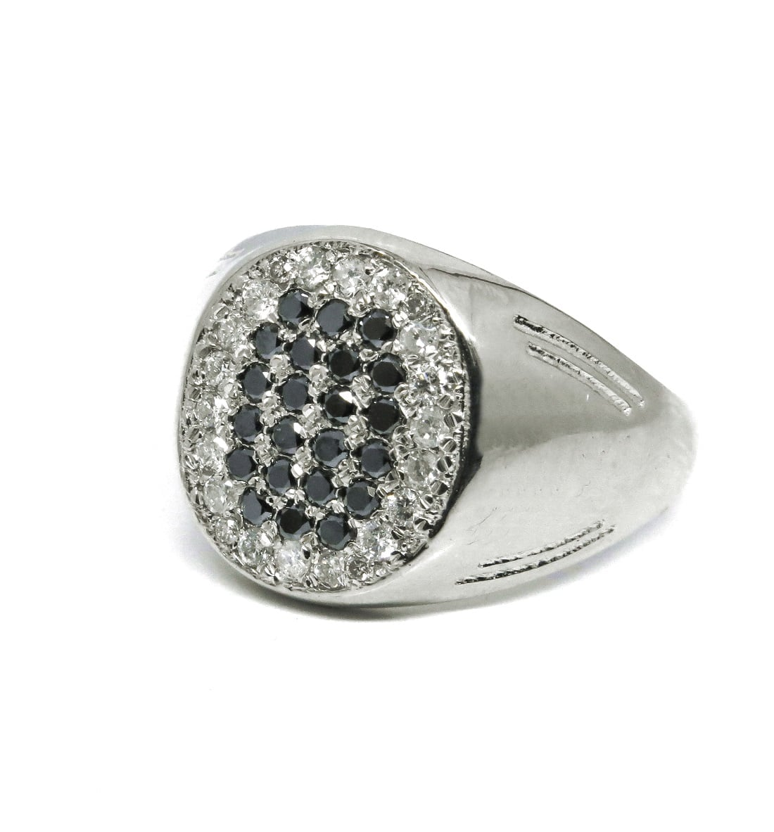 טבעת יהלומים לגבר, טבעת לגבר בזהב 0.70 קראט יהלומים