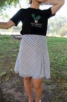 חצאית משבצות לבנה