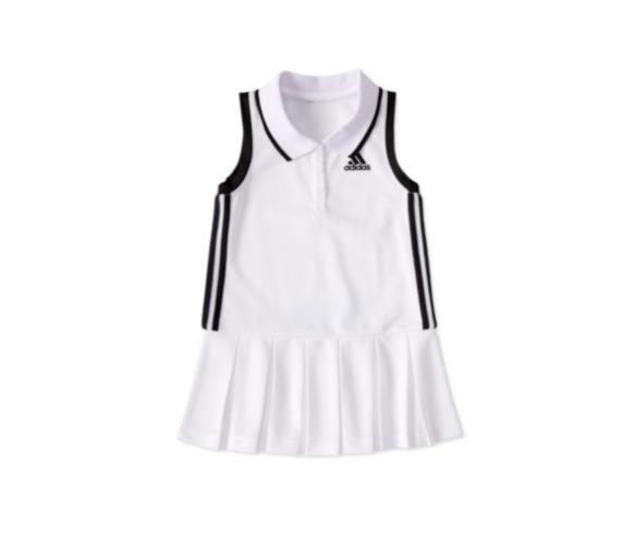 שמלת טניס לבנה ADIDAS בנות - 3 חודשים עד 7 שנים