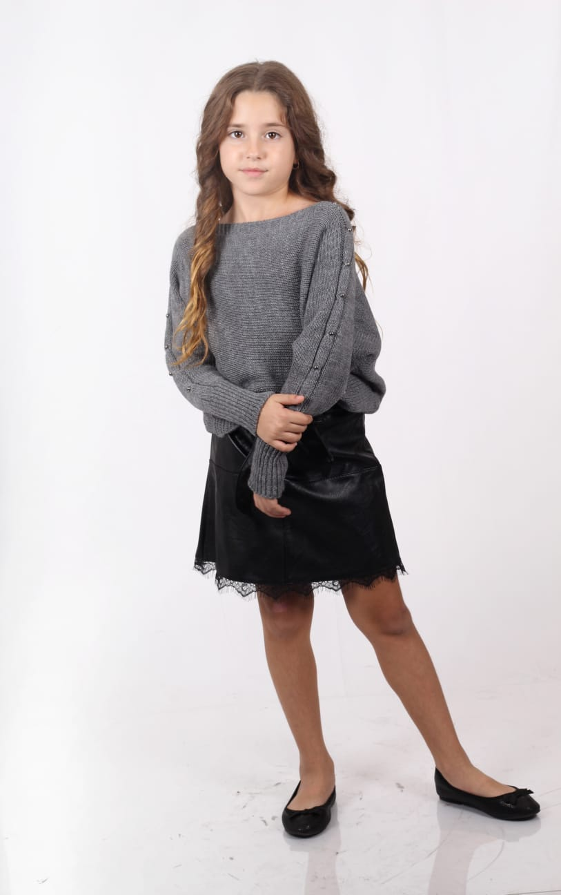 חצאית דמוי עור מיני