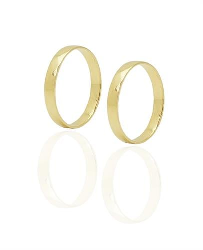 טבעת נישואין קלאסית עבה מזהב 14 קרט