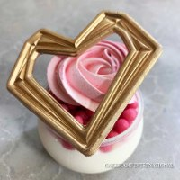Geometric Heart Cake Topper  Mold   Flexible Polymer Mold   Chocolate Mold