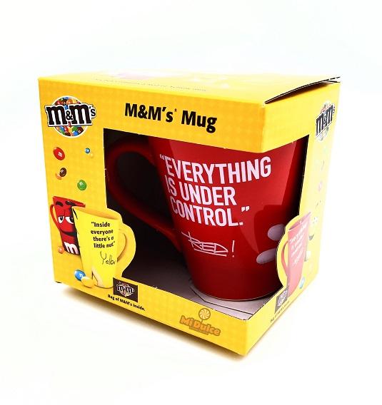 ספל מאג m&m בצבע אדום עם עדשים