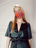 אוברול סאשה פויל שחור + מסכת RED STRIPES מתנה