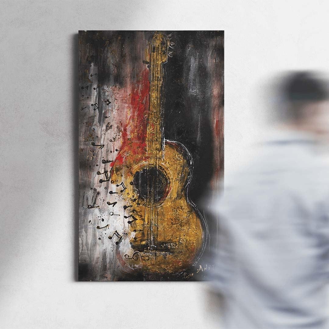 הדפס קנבס פריחת הגיטריה