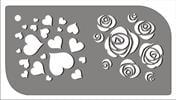 ורדים ולבבות  [t007] - שבלונות איכותיות tra-fa-ret stencils