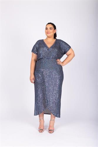 שמלת לורנה כחול