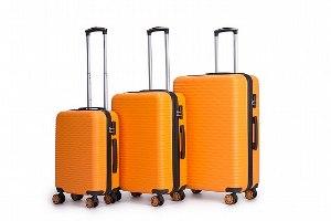 סט 3 מזוודות איכותיות SWISS  - צבע כתום