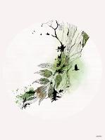 ציור ירוק ושחור - תמונה לבית- ליז קפילוטו