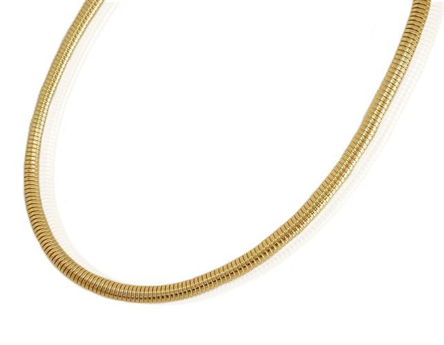 שרשרת זהב לאישה איטלקית בסגנון נחש