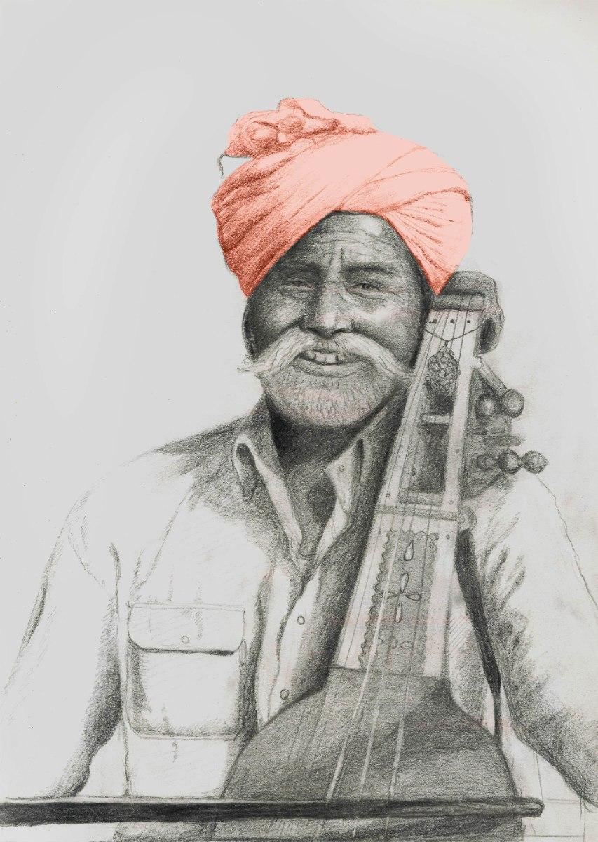 הדפס ציור נייר - נגן סאראנגי
