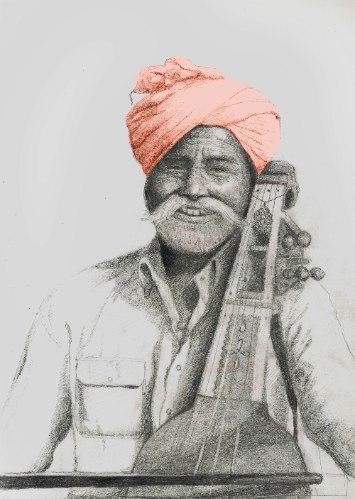 נגן סאראנגי -הדפס ציור