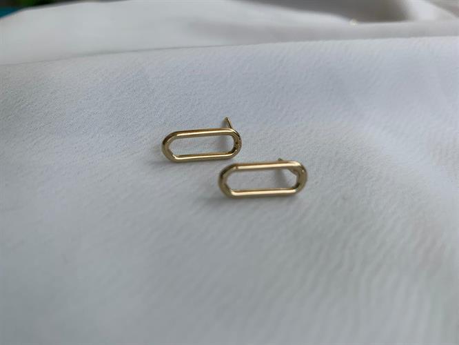 עגילי לורן בייסיק זהב