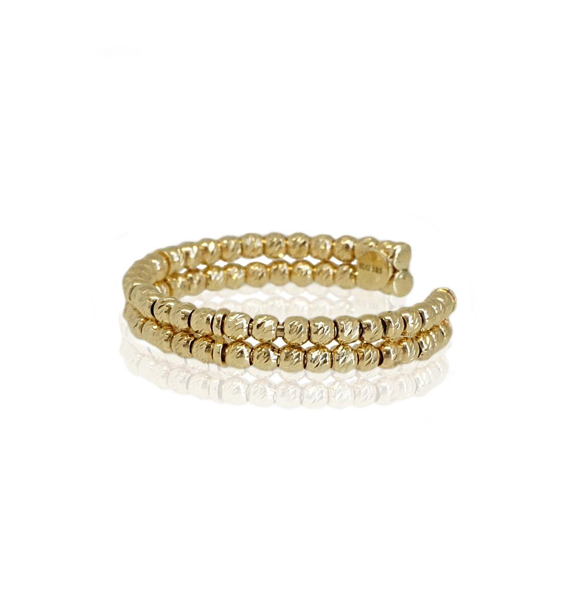 טבעת זהב כדורים פתוחה|טבעת כדורים