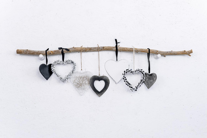 ענף לבבות 7 יח' וזוג פינבורד