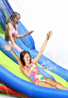 9129 - מתקן קפיצה ומים הקיץ החם הפי הופ - Hot Summer Double Water Slide Happy Hop - קפיץ קפוץ