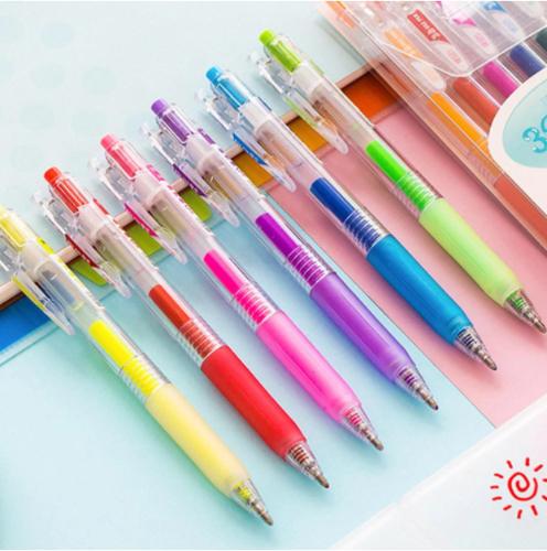 סט 6 עטים תלת מימד בצבעים שונים