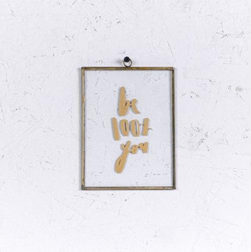 שלט זכוכית בינוני - BE 100% (זהב)