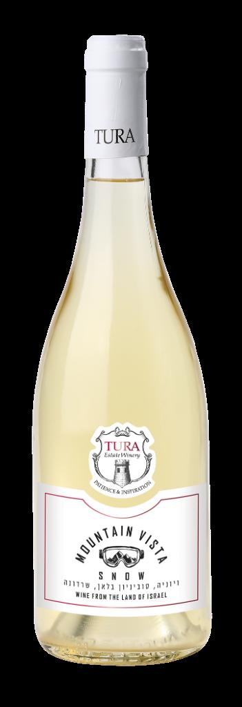 יין לבן יבש סנואו יקב טורא 2017 - בקבוק 750 מ''ל
