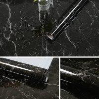 """טפטים עם מדבקה למטבח לאמבטיה בדמוי שיש נגד כתמים, מים וחום - בגודל גליל של 10 מטר * 60 ס""""מ"""