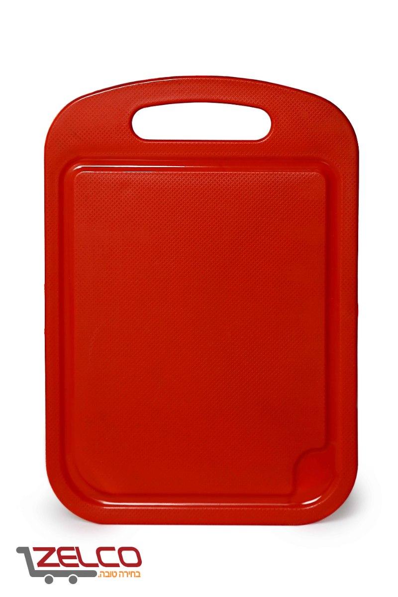 קרש חיתוך גדול פלסטיק 41X28 אדום/כחול/לבן/ירוק