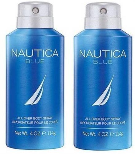 Nautica 2 Blue Deodorant Spray - For Men (300 ml, Pack of 2)