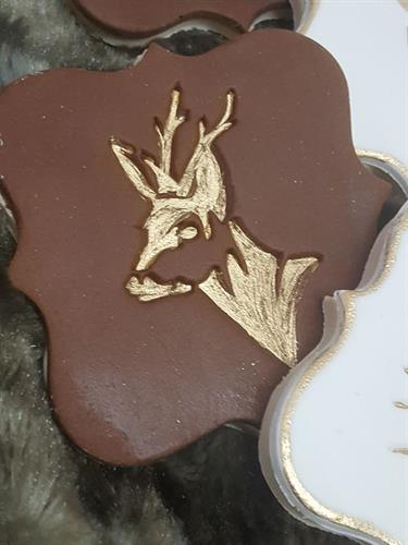 Deer head - side - new stamp