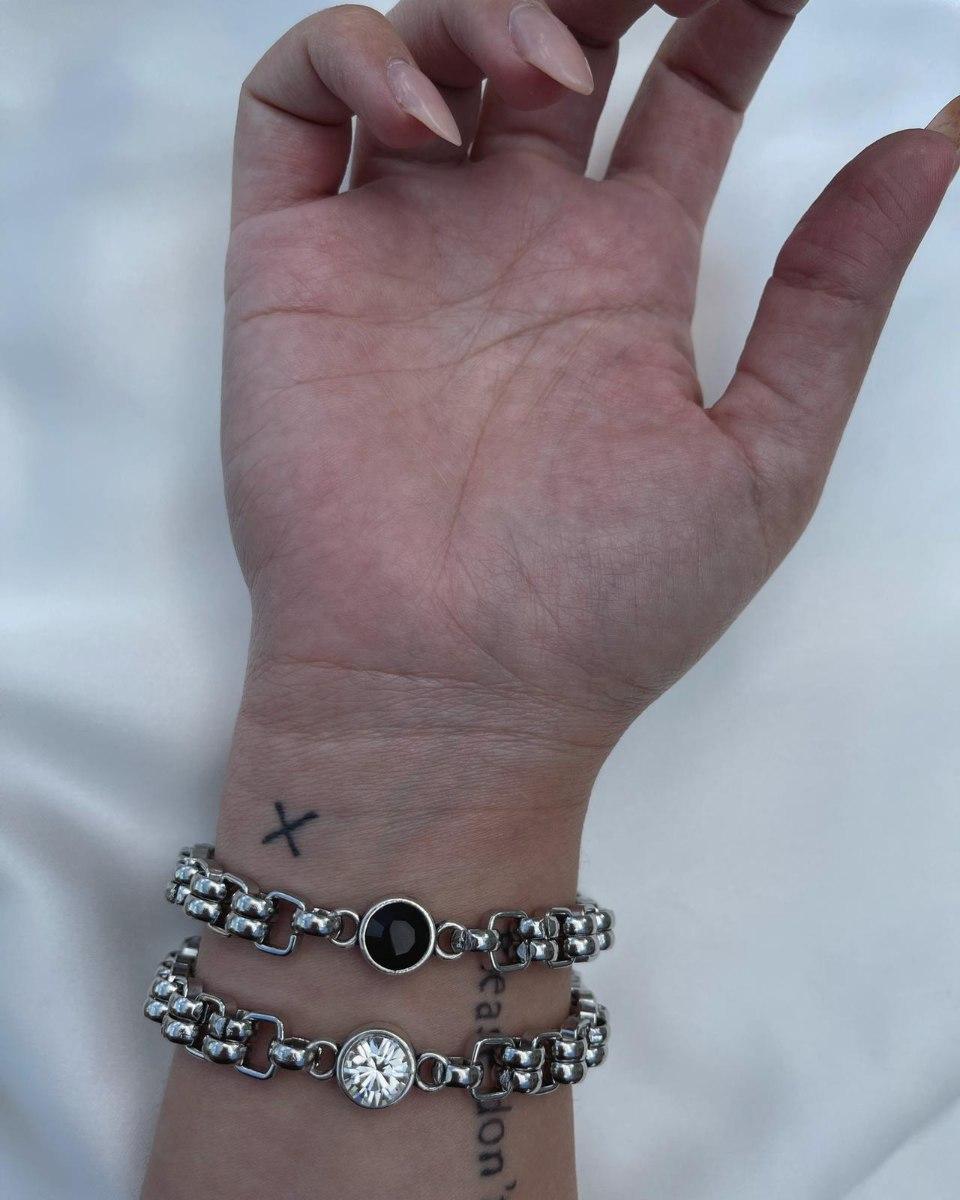 צמיד חוליות בשילוב יהלום NICE STUFF
