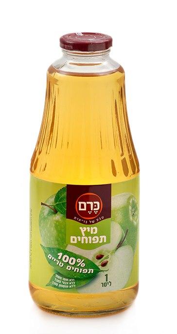 100% מיץ תפוחים טבעי, 1 ליטר