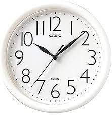 שעון קיר קסיו לבן עגול CASIO IQ-01S-7DF