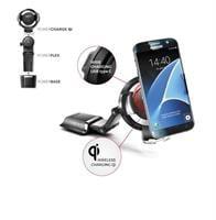 מתקן לטלפון עם מטען אלחוטי Bury Powerkit Qi Powermount