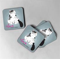 תחתיות לכוסות דגם חתולים
