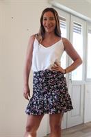חצאית מלמלה פרחים ורוד
